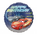 "18"" Cars - Happy Birthday Round Foil Balloon, 35366"