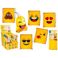 Rucsac haios cu emoji din material textil, ca. 42 x 34, 02/5018, 6 modele