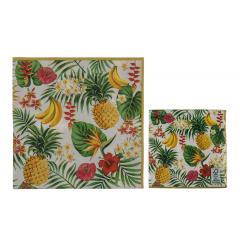 Servetele de masa pentru petrecere cu print tropical, 33 x 33 cm, 145263, Set 20 buc