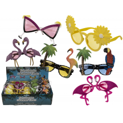 Plastic fun glasses for party, 6 ass, Radar 18/3926, 1 piece