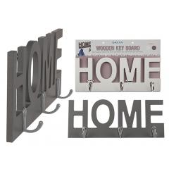 Placuta decorativa - Home - pentru chei, ca. 29 x 11,5 cm, Radar 144209, 2 modele, 1 bucata