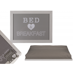 Bed and breakfest tray with cushion, ca. 41 x 28 cm, Radar 144277, 1 pcs