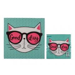 Paper napkins with cat print, 33 x 33 cm, 145196, pack of 20 pcs