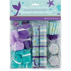Jucarii party Mermaid Wishes, Radar 3900161, Set 48 piese