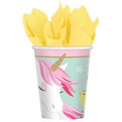Magical Unicorn Paper Party Cups - 266 ml, 581929, Pack of 8 Pieces