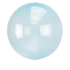 "Orbz Crystal Blue Foil Balloon - 22""/ 56 cm, 82847"
