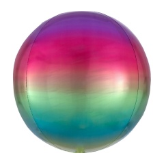 Balon folie Ombre Orbz Rainbow - 38 x 40 cm, 39850