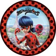 Miraculous Party Plates - 23 cm, 9902873, pack of 8 pieces