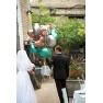 Pachet baloane folie inima 45 cm Satin Luxe Sangria, Amscan 38980, set 4 buc