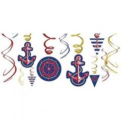 12 Swirl Decoration Anchors Aweigh, Radar 671617, 1 pcs