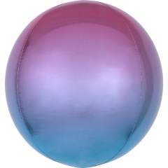 Balon folie Ombre Orbz Purple & Blue - 38 x 40 cm, 39852