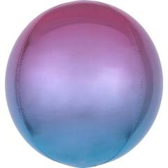Balon folie Ombre Orbz Purple & Blue - 38 x 40 cm, 39852