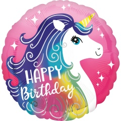 "18"" Happy Birthday Unicorn, Radar 39628, 1 pcs"