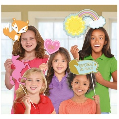 Accesorii foto party Magical Unicorn, Radar 399830, Set 12 buc