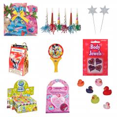 Pachet Party Pentru Fetite (gentuta, bagheta, joc magic, ratusca, tatuaje, baloane de sapun, balon, suflatoare)