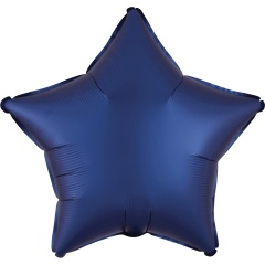 "18"" Satin Luxe Navy Star Shaped Foil Balloon, Radar 39962"