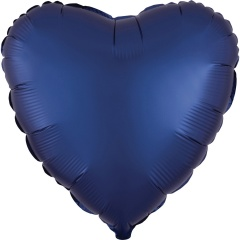 Satin Luxe Navy Heart Shaped Foil Balloon, Radar 39961