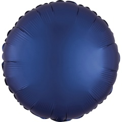 Balon folie 45 cm rotund Satin Luxe Navy, Radar 39960
