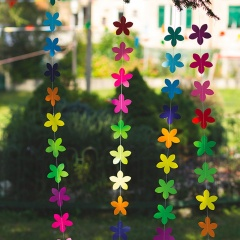 Party banner with colorflul flowers, 2 m, Radar 41254