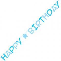 Banner decorativ pentru petrecere - Happy Birthday, 3 m, Radar 54499, 1 buc
