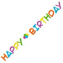 Banner decorativ pentru petrecere - Happy Birthday, 3 m, Radar 54497, 1 buc