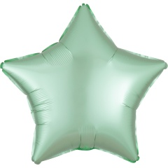"18"" Satin Luxe Mint Green Star Shaped Foil Balloon, Radar 39915"