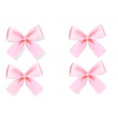 4 Pink Satin Bows For Balloons, 10 x 9 cm, Radar 50279