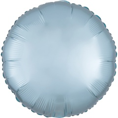 Balon folie 45 cm rotund Satin Luxe Pastel Blue, Radar 39910