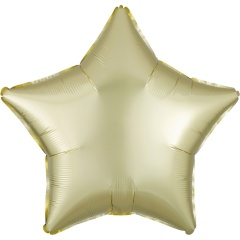 Balon folie stea 45 cm Satin Luxe Pastel Yellow, Radar 39903