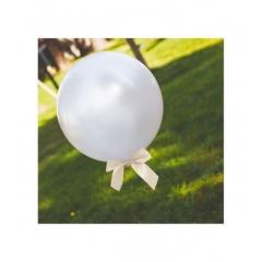 4 Ivory Satin Bows For Balloons, 10 x 9 cm, Radar 50278