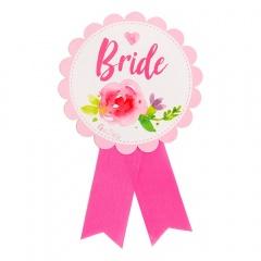 "Bachelorette Party Badge - ""Bride"" - ca. 13 cm, Radar 41389"