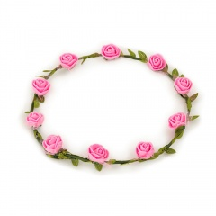 Coronita cu flori roz - Radar 41387, 1 buc