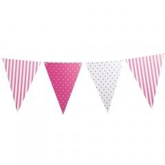 Banner decorativ roz pentru petrecere, 3.6 m, Radar 41159