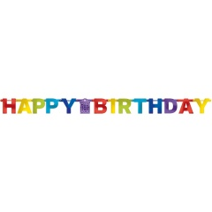 Letter Banner Bright Birthday Foil, 213 cm, Radar 120199