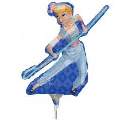 Balon mini figurina Toy Story - Bo Peep, 36 cm, umflat + bat si rozeta, Radar 39873