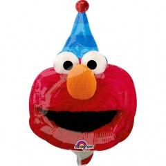 Balon mini figurina Sesame Street, doua fete, 20 x 27 cm, umflat + bat si rozeta, Radar 34400