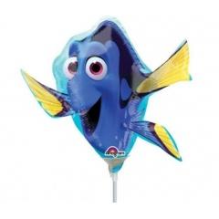 Balon Mini Figurina Finding Dory - umflat + bat si rozeta, Amscan 32310