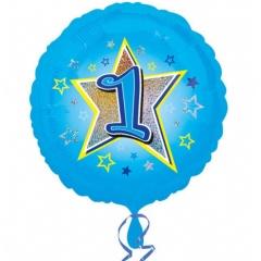 Balon folie inscriptionat Blue Stars 1st - 45 cm, Radar 29532