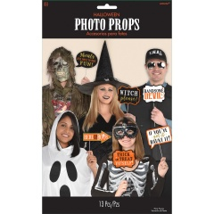 Photo Booth Kit Halloween Paper / Plastic, 35.5 x 21.5 cm, Radar 3900184, 13 pcs