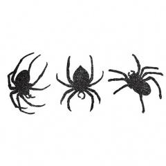 9 Cutouts Spiders Glitter Paper 18.4 x 15.5 cm, 20.3 x 13.9 cm, 19.6 x 17.7 cm, Radar 199496