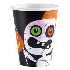 8 Cups Halloween Kids Paper 266 ml, Radar 998386, pack of 8 pcs