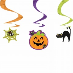 3 Swirl Decorations Halloween Foil / Paper 45.7 cm, Radar 677415