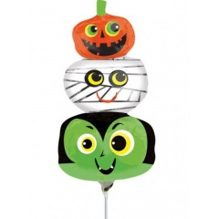 Balon folie mini figurina Halloween Heads, 36 cm, Radar 35923