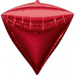 Balon folie diamondz Rosu - 38 x 43 cm, Radar 28344