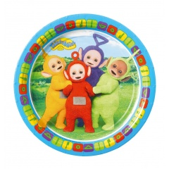 8 Party Paper Plates Teletubbies, 18 cm, Radar 9901388