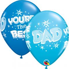 "Baloane latex 11"" inscriptionate You're The Best Dad, Qualatex 41690"