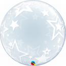 "Stylish Stars Deco Bubble Balloon - 24""/61 cm, Qualatex 42671, 1 piece"
