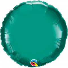 Balon folie metalizat rotund Teal - 45 cm, Qualatex 32554