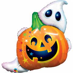 Balon Folie Figurina Halloween Jack n' Ghost  - 84 cm, Qualatex 89964