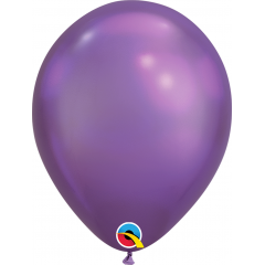 "Baloane latex 7""/18 cm Purple - Chrome, Qualatex 85155"